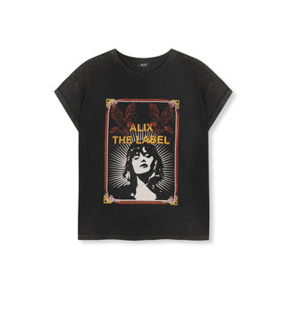 ALIX the label Movie T-shirt, Black