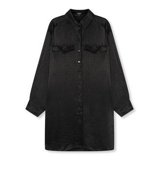 ALIX the label Woven satin blouse, Black