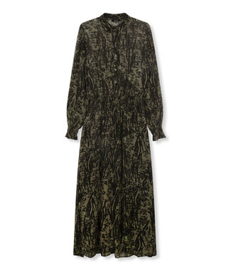 ALIX the label Animal maxi dress, Dark olive