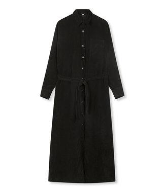 ALIX the label Woven ribcord dress, Black