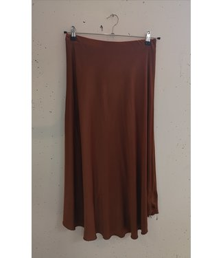 Silk skirt, Orange