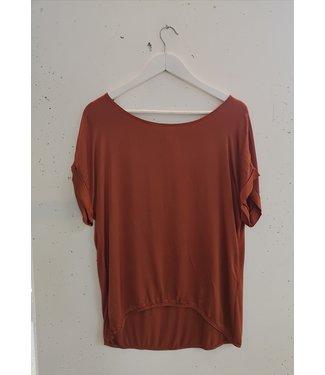 T-shirt silk, Orange