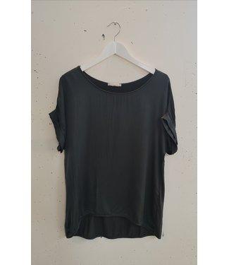 T-shirt silk, Dark grey