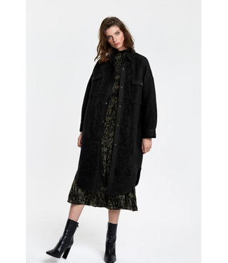 ALIX the label Embroidered wool jacket, Black