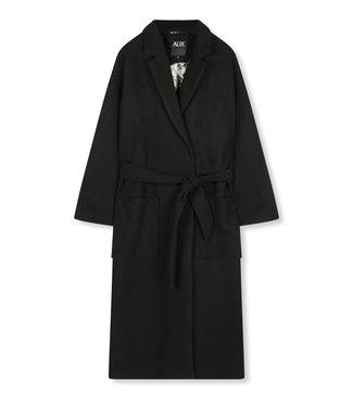 ALIX the label Woven wool coat, Black