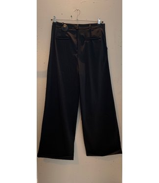 Pants wide long, Black