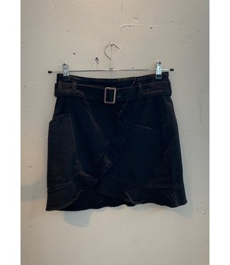 Skirt short jeans, Black