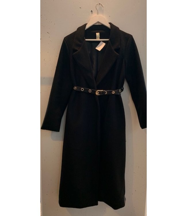 Coat blazer long, Black