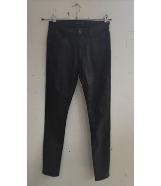 Jeans faux leather stretch toxik, Black