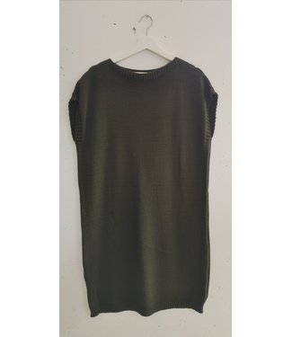 Dress col knitted, Army green