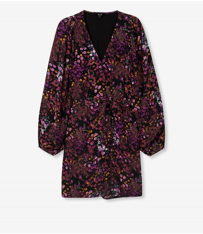 ALIX the label Ditsy flower dress, Purple