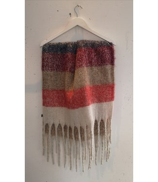 Scarf long, Red multi