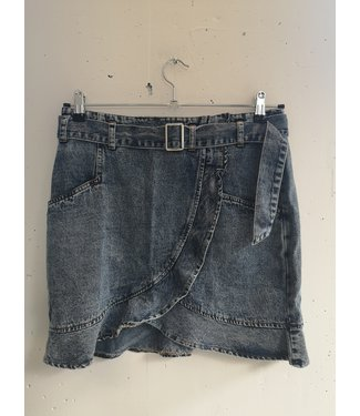 Skirt short jeans, Denim blue