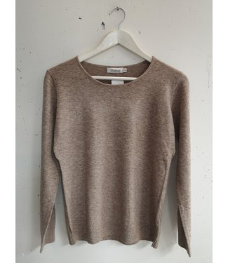 Longsleeve stretch, Light brown