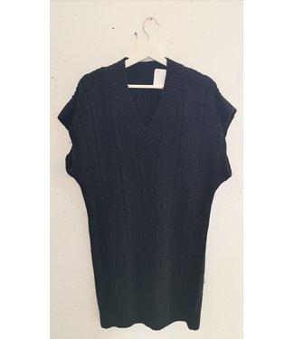 Dress knitted spencer, Black