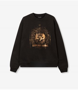 ALIX the label Foiled gold sweater, Black