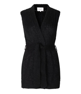 Second female Sonia knit waistcoat, Black