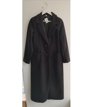Coat felt maxi, Black