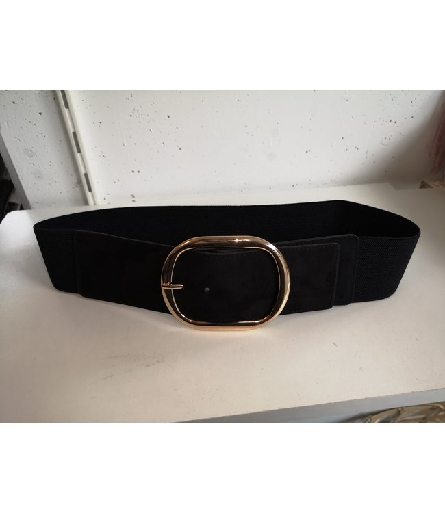 Belt elastic big, Black gold