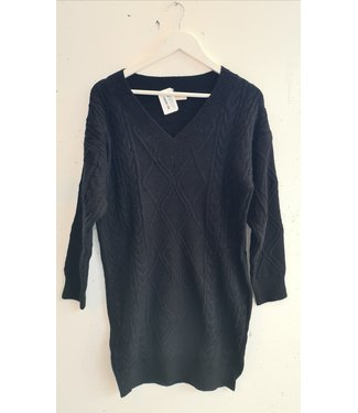 Sweater dress cable, Black