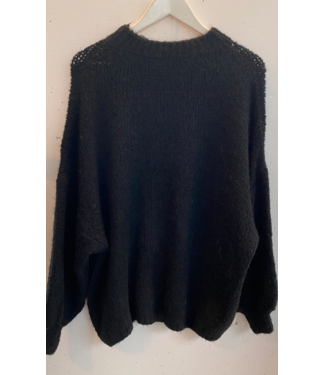 Knitted sweater wide, Black