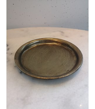 Plate round, Gold