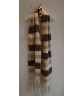 Scarf stripes, Camel Brown