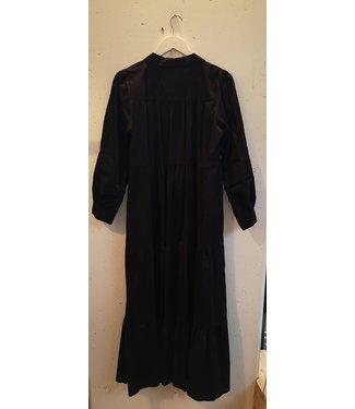 Dress cotton wide long, Black