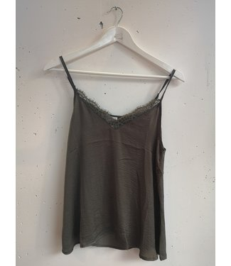 Singlet small lace, Army green