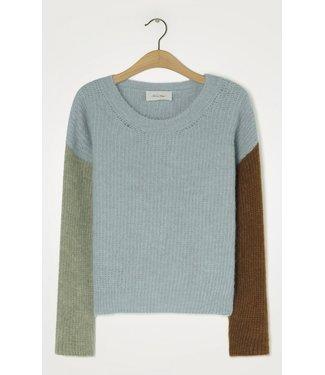 American Vintage Sweater East18f, Blue sky melange