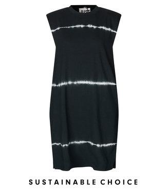 Just Female Dress Beijing tiedye, Black