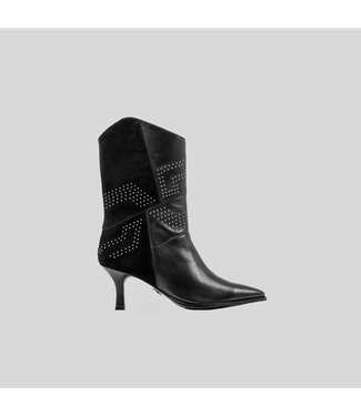 BRONX Ankle boots NEW-LARA studs, Black