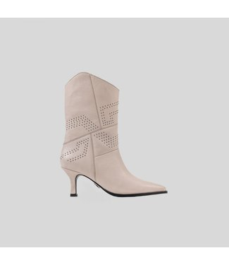 BRONX Ankle boots NEW-LARA studs, Off white