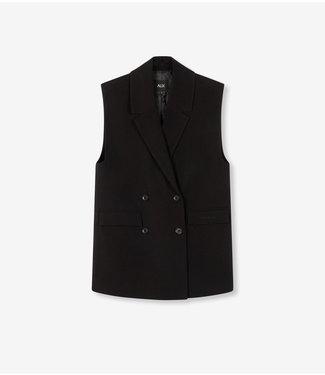 ALIX the label Waistcoat stretch, Black