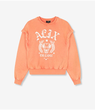 ALIX the label Sweater Alix university, Salmon