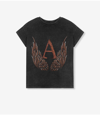 ALIX the label T-shirt A wings, Black