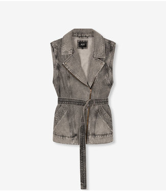 ALIX the label Waistcoat denim oversized, Charcoal grey