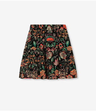 ALIX the label Skirt flowers chiffon, multi colour