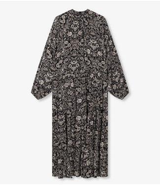 ALIX the label Dress flower viscose, Black