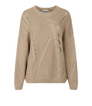 Just Female Sweater Via knit, Cobblestone