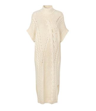 Just Female Dress Via nit vest, Off white