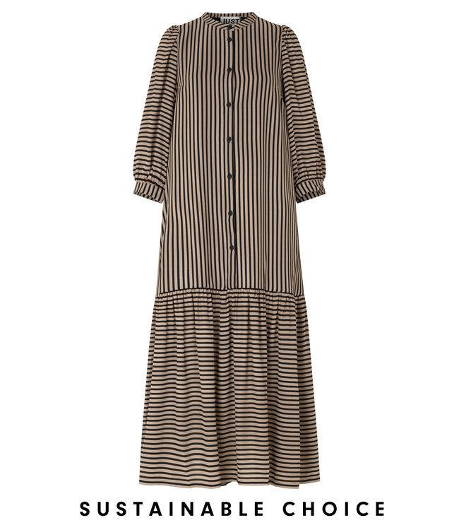 Just Female Colorado maxi dress, Cobblestone stripe