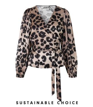 Just Female Laguna blouse, Leopard