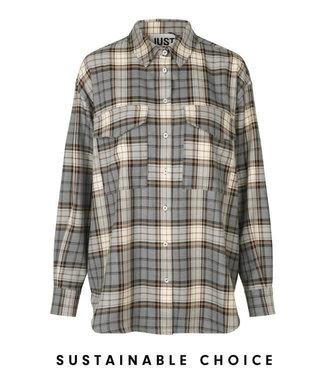Just Female Pisa shirt, Stone check