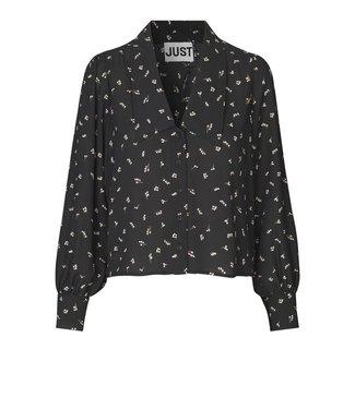 Just Female Hydra blouse, Snowberry Black