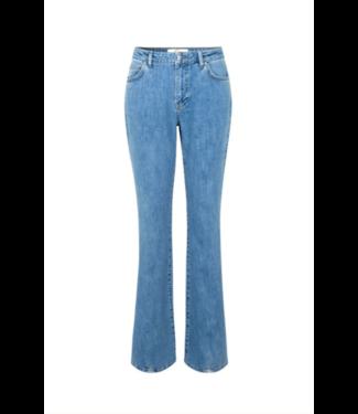 Five units Jeans Naomi split 241, Wave blue