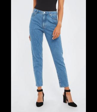 Five units Jeans Katelyn ankle split 241, Wave blue