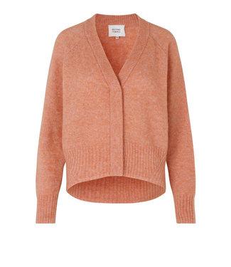 Second female Brook knit boxy cardigan, Light mahagony