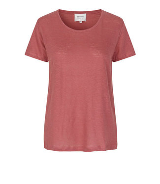 Second female Peony O-neck tee, Roan rouge