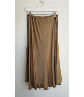 Skirt silk, Golden brown